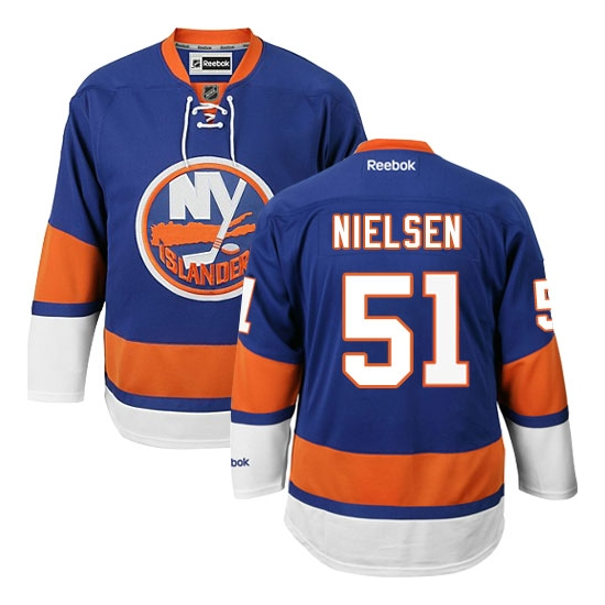 Frans Nielsen New York Islanders Authentic Home Reebok Jersey - Royal Blue